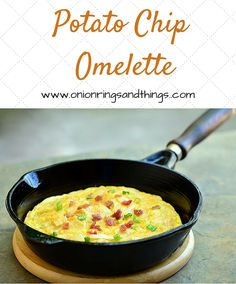 Potato Chip Omelette is a delightful egg omelette made with crunchy potato chips, bacon and cheese