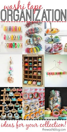 Washi Tape Organization Ideas #washi #washitape #organization
