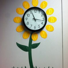 Flower Clock: Great way to help students tell time.