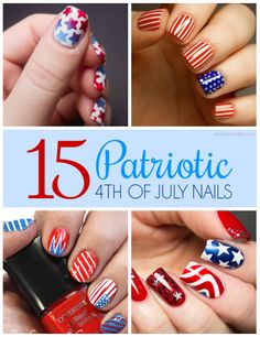 Start prepping for your 4th of July look with these star-spangled nail designs! #julyfour #independenceday #fireworks