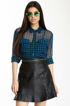 Signature Printed Silk Blouse by Equipment on @HauteLook