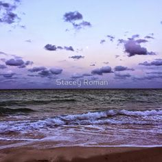 beach, sunset, moon, twilight, ocean, waves, sand, clouds, cloudy, nature, serene, purple sunset, purple sunrise, shell, water, sea, sandy, peace, zen, full moon, purple clouds, T-Shirts, Stickers, iPhone Cases & Skins Posters, Throw Pillows, Tote Bags, Studio Pouches, Duvet Covers, Mugs, Travel Mugs, Photographic Prints, Art Prints, Framed Prints, Canvas Prints, Metal Prints, Greeting Cards, Leggings, Pencil Skirts, Scarves, Kids Clothes, iPad Cases & Skins, and Laptop Skins