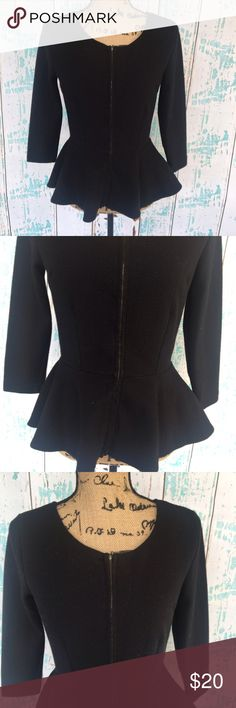 """Halogen zip up peplum top/cardigan size small Halogen black zip up peplum top/cardigan size small   🍥Bundle deals available (I carry various sizes and brands in my closet): 2 items 10% off, 3 items 15% off, 4 items or more 20% off.  🍥No trades, modeling, or lowball offers please. 🍥All reasonable offers accepted only through """"offer"""" button. Please submit offer willing to pay as I prefer to not counteroffer. 🍥I appreciate you all. Happy Poshing! Halogen Tops"""