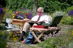 Prince Charles, Prince of Wales works in the Gardens of Highgrove House on July 2018 in Tetbury, United Kingdom. Images are part of a set to mark His Royal Highness's birthday.