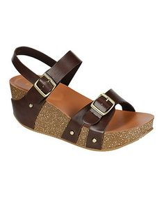 Love this Brown Lalasa Platform Wedge by Bamboo on #zulily! #zulilyfinds
