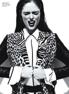 Coco Rocha in 'Crazy for Coco' by Chris Nicholls, Flare Magazine