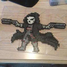 Reaper Overwatch perler beads by noodleschan