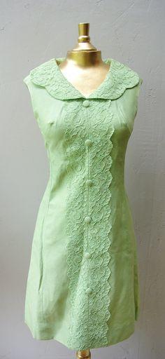 1960s+sundress+/+vintage+mint+tea+dress+Spring+by+FiregypsyVintage