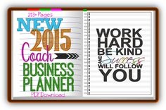 COMPLETE 2015 (and BEYOND) Coach Business Planner ~ To Insanity & Back