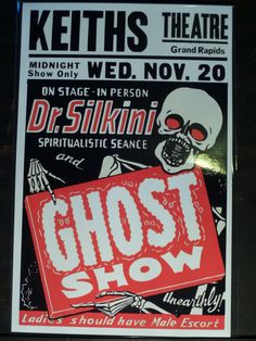 Spook Show Event Poster Elvis Presley Marilyn Monroe Supernatural Paranormal