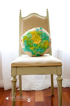 #HeidiSwapp #ColorShine and #Petaloo Pillow by Maggie Massey