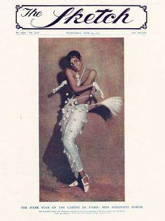 History of Black Dance: 20th-Century Black American Dance (Front cover of The Sketch howing Josephine Baker, 1931.)