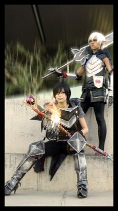 Their Deviantart gallery has more awesome pics of them as Hawke and Fenris, as well as their other fantastic costumes. ~Hawke and Fenrs by aicosu on deviantART