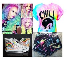 """""""Rainbow"""" by trinity-taylor-1 ❤ liked on Polyvore featuring HVBAO"""
