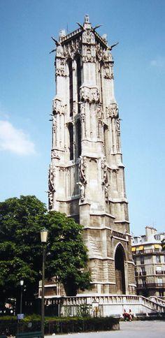 Tour Saint-Jacques | Paris, France   Construction started in 1508, it is 52 m high