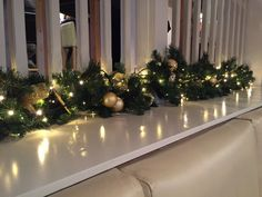 Christmas decorations we made for the Bay Horse Inn