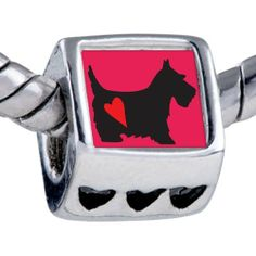 Pugster Silver Plated Photo Bead Scottie Dog Beads Fits Pandora Bracelet Pugster. $12.49. Bracelet sold separately. Unthreaded European story bracelet design. It's the photo on the heart charm. Fit Pandora, Biagi, and Chamilia Charm Bead Bracelets. Hole size is approximately 4.8 to 5mm