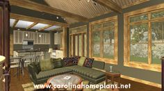 Small Stone Craftsman Cottage - Open Floor Plan SG-981-AMS.