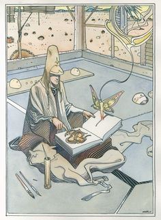 Famed Artist Jean Giraud (Moebius) Passes Away At 73 Jean Giraud, Science Fiction, Frank Margerin, Illustrations, Illustration Art, Moebius Art, Character Art, Character Design, Comic Book Collection