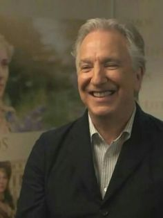 "Alan Rickman from an interview supporting ""A Little Chaos"" in 2015"
