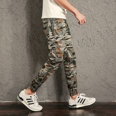 Personlity Pants Men 2017 New Fashion Camouflage Joggers Harem Pants Boys Casual Men Trousers Patchwork pantalon homme 5XL-M Hot #Affiliate