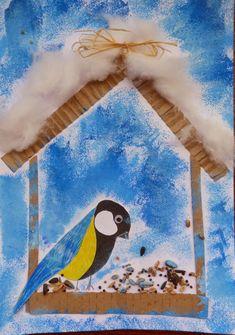 Kouzlo mého domova: Sýkora koňadra Winter Crafts For Kids, Winter Kids, Winter Art, Winter Theme, Fall Art Projects, Classroom Art Projects, Art Classroom, Drawing Lessons For Kids, Art Drawings For Kids