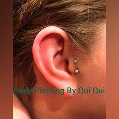 Body Piercing, Ear Piercings, Vertical Tragus, Pretty, Art, Art Background, Ear Rings, Kunst, Performing Arts