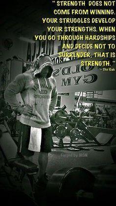 Strength Comes . . .