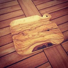 Handmade olivewood cutting board