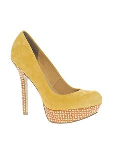 ASOS PUMP IT UP Suede Court Shoes With Weave Detail Platform - would love in another color
