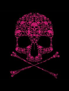 Black and Pink Skull