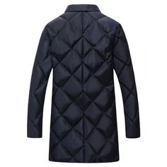 Plus Size Argyle Thicken Lengthen Quilted Coat #men, #hats, #watches, #belts, #fashion