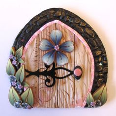 Cottage Chic Fairy Door Pixie Portal by Claybykim on Etsy, $21.00
