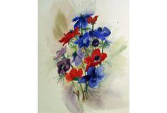 Anemone Bouquet Watercolor