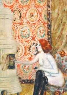 Nude next to the fireplace von István Csók Art Boards, Art Nouveau, Modern Art, My Arts, Nude, Gallery, Puzzle, Paintings, Artists
