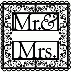 Silhouette Design Store - View Design #84853: wrought iron vine mr. & mrs.