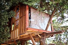 Treehouse in a National Park. A nice hut 3m up in a tree accessed by a hanging bridge. It was built in the middle ofSierra de Huétor Natural Park and overlooks the spectacular Sierra Nevada mountains. Located inHuétor de Santillán, Andalucía, Spain.