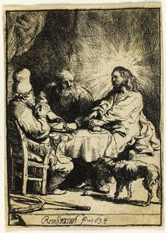 Rembrandt van Rijn Dutch, 1606-1669 Christ at Emmaus: The Smaller Plate, 1634 | The Art Institute of Chicago