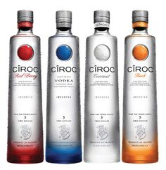 Ciroc - Super Premium - P-diddy owns a piece and features in the advertising campaign - France