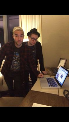 Pete Wentz and Patrick Stump