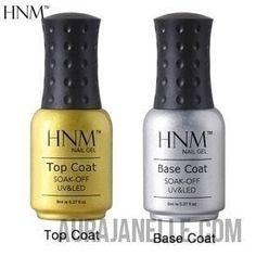 HNM 8ml Nail Primer Base Coat & Top Coat Set