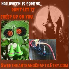 Halloween is coming!  Decorations for your body and your house at SweetheartsandCrafts.com #halloween #halloweenjewelry #halloweendecorations #halloweendecor #paperjewelry #uniquehalloween