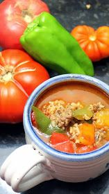 Inspired By eRecipeCards: Stuffed Peppers Soup - 52 Recipes for Soup