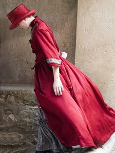 red tophat. the coat's pretty cool too.