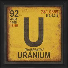 Uranium Element by The Artwork Factory