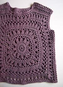 Granny Square Crochet Crop Top with Long Sleeve Pull Crochet, Gilet Crochet, Crochet Jumper, Crochet Cardigan, Granny Square Crochet Pattern, Crochet Diagram, Crochet Motif, Crochet Patterns, Crochet Top