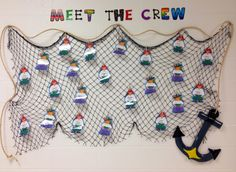 Pirate welcome back to school bulletin board. I ended up using sticky tack to…