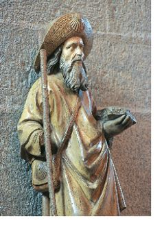 St. James the Pilgrim walking the Camino to Santiago de Compostela