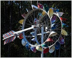 bicycle wheel weather vane - Google Search