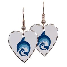 Dolphin pint products Earring Heart Charm